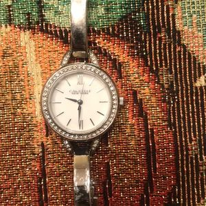 Caravels New York Silver Watch